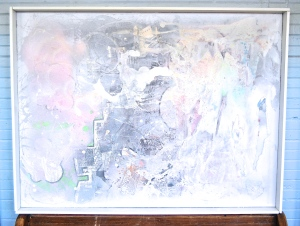 mixed media on canvas 31x41 with frame